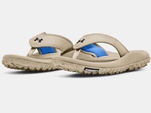 Under Armour Mens Fat Tire Sandals Flip Flop 3023750 Khaki - New 2021