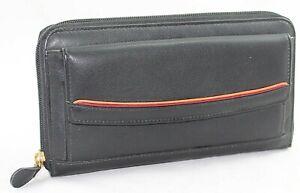 Portafogli Donna in Vera Pelle Borsello Porta carte monete Zip interna/esterna