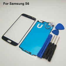 Touch screen replacement front glass outer lens cover black Samsung Galaxy S6