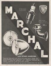 PUBLICITE  MARCHAL ACCESSOIRES AUTO  AUTOMOBILE   AD  1934 -2H