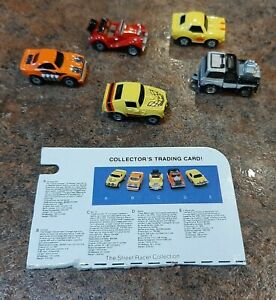 Vintage Galoob Micro Machines The Street Racer Collection Set Of 5, 1988 Galoob