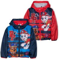 Paw Patrol characters Boys warm Jacket Rain Coat Polar Fleece lining 2-6 Years