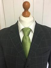 Mens LUXURY ARMANI COLLEZIONI WOOL SUIT In CHARCOAL WINDOWPANE CHECK 42L EX-CON*