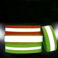 2m High Visibility Reflective Tape Strip Sew On Fabric Trim Safty Vest Diy Craft