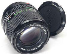 Canon FD Camera Lenses 100mm Focal