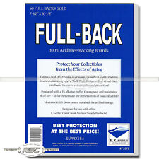50 - Full-Back Gold 42pt Comic Book Backing Boards by E. Gerber - 758FB