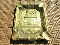 Vintage Brass Waterloo with Lion Ashtray Depose G.L.