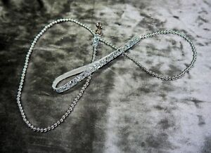 GORGEOUS GLITZY SILVER LUXURY BEAD DOG LEAD FOR EXTRA SMALL DOGS