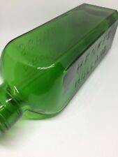 Antique J.H.HENKES Near Mint HOLLAND SCHNAPPS AROMATIC GREEN SUPER CLEAN BOTTLE