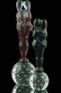 Figurina Amanti in Vetro di Murano scultura Innamorati fatta a mano in Italia