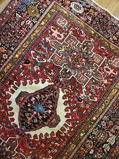 4.9 x 6.6 Antique Fine Heriz Rug Antique Serapi Oushak Kazak Caucasian Shirvan