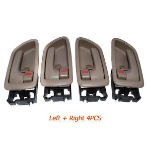 New Beige 4PCS Inside Door Handles Left & Right for 01-07 Sequoia 04-06 Tundra