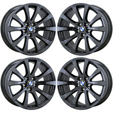 19x9 BMW X5 X6 X5M X6M BLACK CHROME WHEELS RIMS FACTORY OEM SET 4 71381