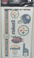 NFL PITTSBURGH STEELERS TEMPORARY TATTOOS 1 SHEET 7 TATTOOS FAST FREE SHIPPING