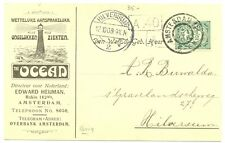 NEDERLAND 1908   RECLAME   BK =VERZEKERING THE OCEAN VUURTOREN LIGHTHOUSE  VF