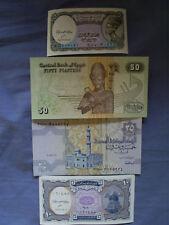 4 different Egypt paper money 5,10,25 & 50 piastres AU-Unc.