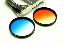 77mm Graduated Blue + Orange Filter Set For Tamron Canon Sony DSLR & Others Lens
