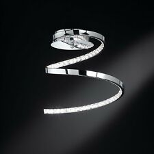 WOFI lámpara LED de techo AMMARI 1 luz cromado Espiral 13,5 vatios 780 Lúmenes