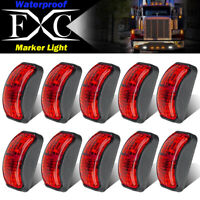 10x Red LED Side Clearance Marker Light Car Truck Tail Trailer Lamp 10V-30V
