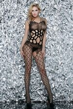 Fishnet Bodystocking Queen Size Lace Cut Out Design Yelete Ships from California