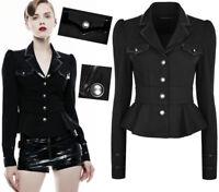 Veste peplum blazer gothique punk lolita militaire bandes volant soirée PunkRave