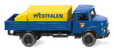 """WIKING 043801 H0 1:87 - Camion BATTAGLIA CON aufsatztank (MB) """" WESTFALEN """" -"""