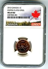 2012 CANADA CENT NGC MS69 MAGNETIC STEEL LAST YEAR CANADA LABEL EXTREMELY RARE !