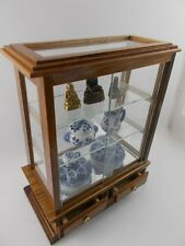 "5"" Miniature Display Cabinet Wooden Storage Cupboard Drawers Furniture Shelves"