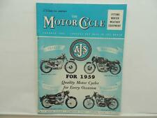 Oct 1958 The Motorcycle Magazine AJS Trials Racing Touring Scrambles Esso L8291