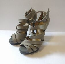 ALDO Women's Size 36 Gray Strappy Stiletto High Heels Stretch