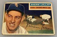 1956 Topps # 243 Sherman Sherm Lollar Baseball Card Chicago White Sox