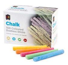 100 Dustless Coloured Chalk - 5 colours 100% Natural. Non Toxic