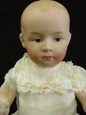 """Rare Antique German Gebrüder Heubach Character Doll 9"""" tall Original dress"""