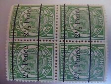 Transvaal overprints in blocks of four UMM SG194, 197, 199 and 241