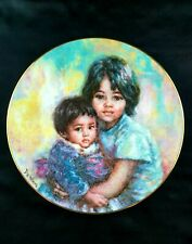 """Royal Doulton Limited Collector Plate by Lisette De Winne """"My Little Brother"""""""