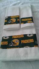 Green Bay Packers 3 Piece Bath Towel Set Handmade  GREAT GIFT!!!