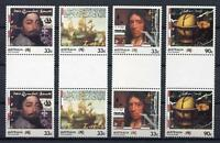 40668) Australia 1985 MNH 200 Years Colonisation 4v Gutter Pair