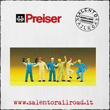 PREISER 10105 SET PERSONAGGI: Operai industriali - 1/87