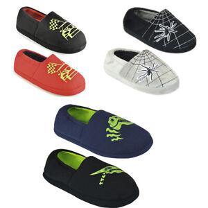 Kids Boys Girls Fleece Warm Closed Anti-Slip Slippers Shoes Indoor & Outdoor