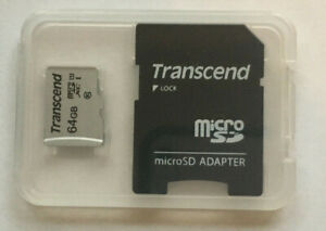 Transcend 64GB Micro SD Card with adapter