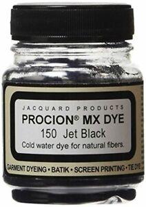 Jacquard Procion MX Fiber Reactive Cold Water Dye 2 3rd ounce Jar Jet Black 1 Pc