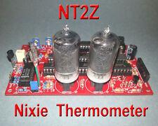 Nixie Thermometer Kit w/ZM1000 nixie tubes - 12VDC - PCB w/ Parts (No IN-13)