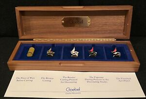 GOEBEL MINI FIGURINES: THE PROCESS FROM A to E: Immaculate Condition, Orig Case