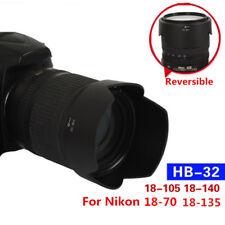 HB-32 Camera Lens Hood For Nikon DX AF-S 18-70mm 18-105mm 18-135 18-140 Bayonet