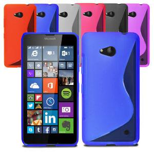 Stylish Soft Wave Gel Case Soft Phone Back Cover For Microsoft Lumia 550 & Guard