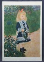 Vintage Renoir Girl With A Watering Can Print Gallery of Art Cascade Promotion