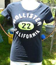 HOLLISTER CALIFORNIA XS NAVY BLUE SHIRT CAP SLEEVE GREEN CIRCLE #22 IN CENTER