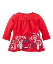 TEA COLLECTION Poinsettia Tree Hirschwald Babydoll Dress - Size 6-12mo - NWT