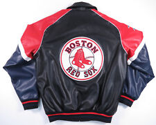 BOSTON RED SOX G-III FAUX LEATHER FULL ZIP BASEBALL JACKET AUTHENTIC MLB MENS M