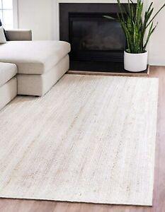 braided jute rug rectangle carpet in pure white color jute rugs sofaside rugs